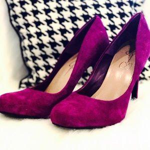 Jessica Simpson Shoes - Fuchsia  Suede Jessica Simpson Heels