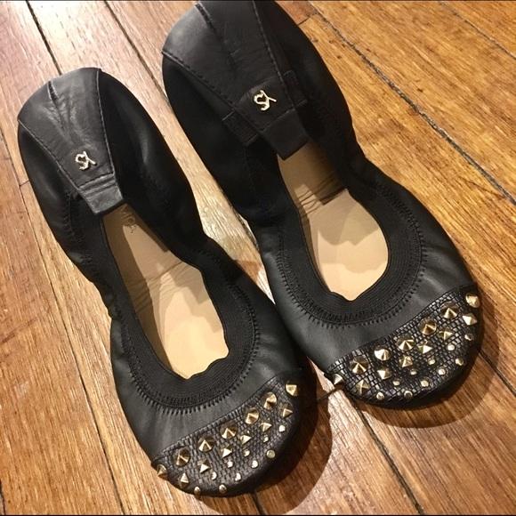34671fd654b NEW Yosi Samra black studded ballet flats
