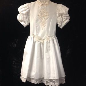 Little Miss Other - Vintage style flower girl/communion dress. Size 10