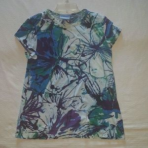 Simply Vera Vera Wang Tops - Simply Vera Vera Wang Patterned Short Sleeve Top
