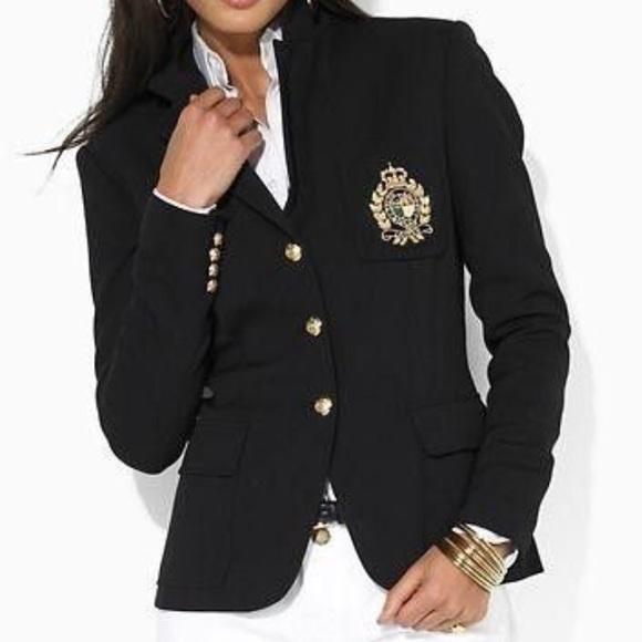 Ralph Lauren Crest Black Blazer