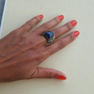 Lapis Lazuli Nepal Ring