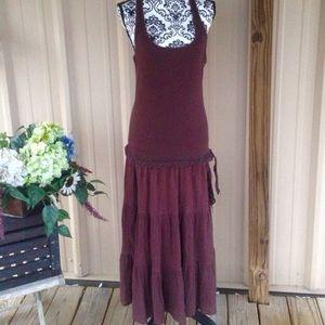 Dresses & Skirts - Bohemian Brown Racerback Drop Waist Dress
