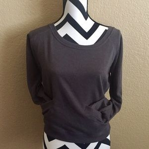 Derek Heart Tops - DARK GRAY DEREK HEART PULLOVER