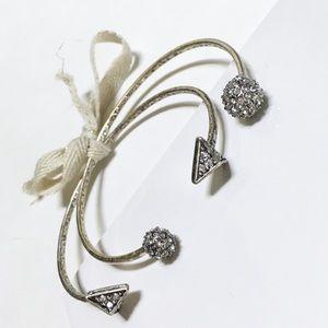 Anthropologie Jewelry - Sterling Silver Rhinestone Arrow / Ball Bangles