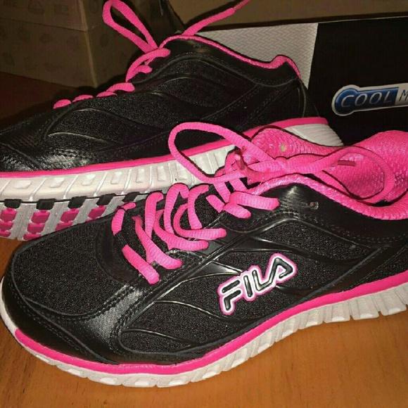 Fila Shoes   Fila Black And Hot Pink