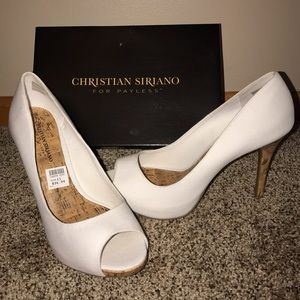 Christian Siriano Shoes - White heels (size 11)