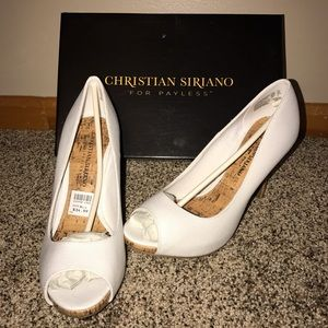 Christian Siriano Shoes - White heels (size 6 1/2)