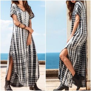 Tie Dye Split Curved Hem Maxi Dress. Price firm.