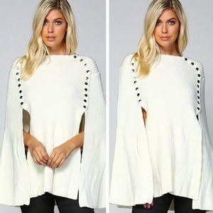 •studded draped sweater•