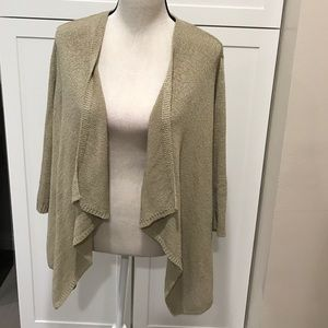 august silk Sweaters - Draped Cardigan 3/4 sleeves