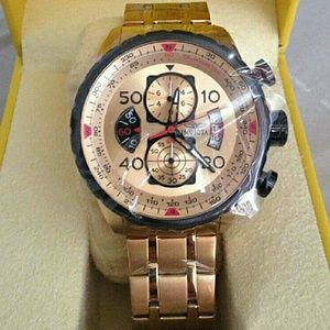 Invicta  Other - NWT Invicta Chronograph 18k gold watch