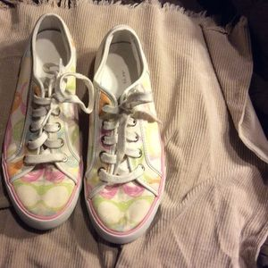 Pastel Scribble Print Coach Shoes