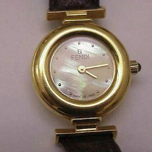 Fendi Jewelry - Authentic Fendi  320l leather Swiss made watch