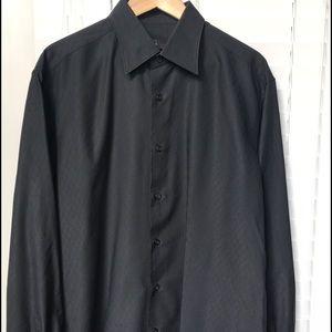 Z Zegna Other - Zegna Men's Long Sleeve Black Dress Shirt, L