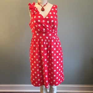 amanda lane Dresses & Skirts - Red and White Polka Dot Dress