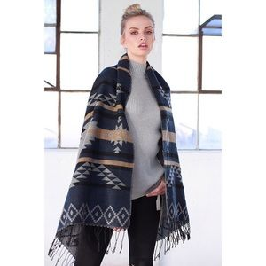 Accessories - New Arrival- Navajo Pattern Oversized Scarf