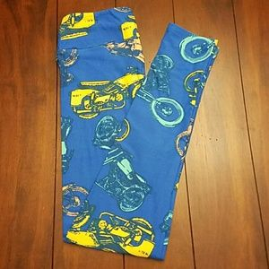 NWT Vintage Motorcycles Lularoe OS leggings