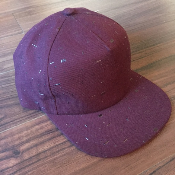beautiful giant Other - 🌵Burgundy Textured Baseball Cap 🔥SAMPLE SALE