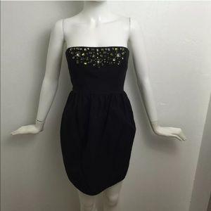 Shoshanna Dresses & Skirts - Shoshanna Jeweled strapless little black dress LBD