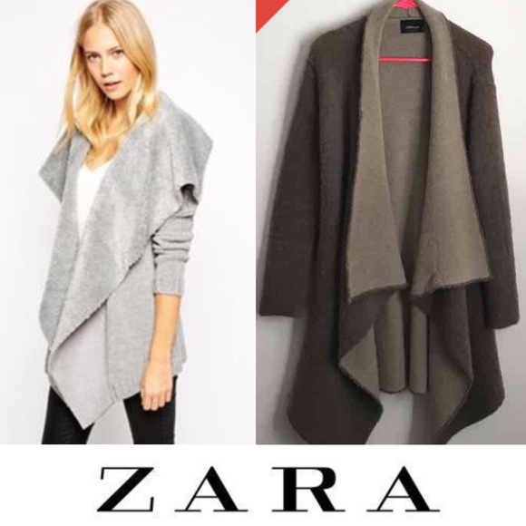 74% off Zara Sweaters - ✂️Zara heavy knit sweater waterfall ...