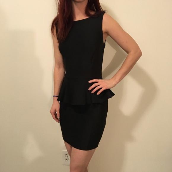 Topshop Dresses Black Sleeveless Peplum Dress Poshmark