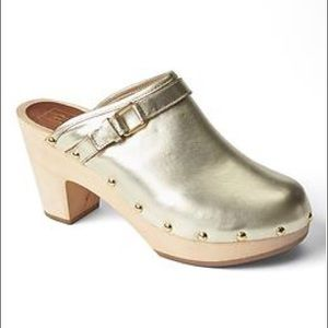 Gap gold clogs - size 6