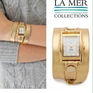 La Mer Accessories - La Mer Collection Gold Wrap Wristwatch Brand New!