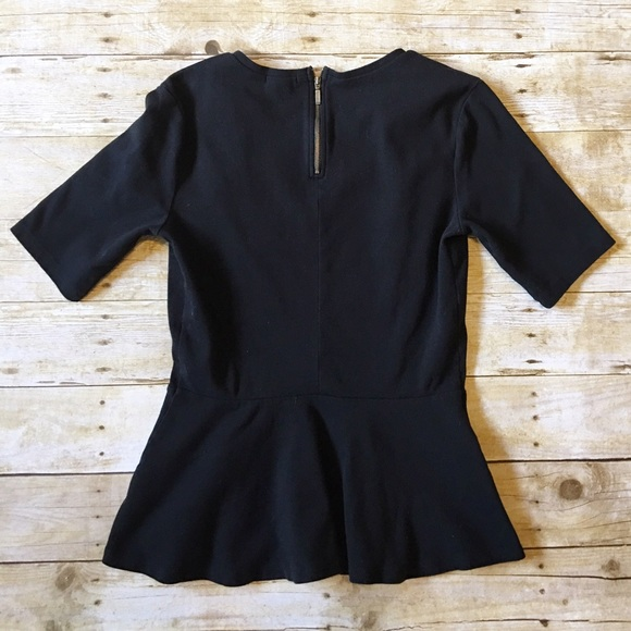 Old Navy Tops - Black Old Navy peplum top size medium tall