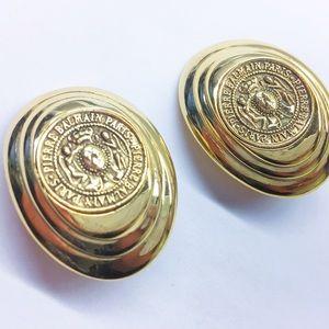 Pierre Balmain Jewelry - Vintage Pierre Balmain Gold Clip On Earrings