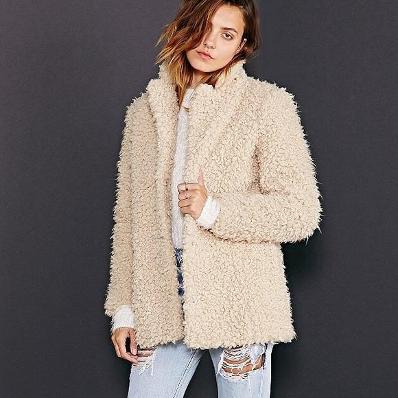 7be7dc74 Urban Outfitters Jackets & Coats | Fuzzy Faux Fur Coat | Poshmark