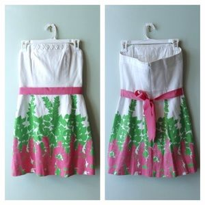 Lilly pulitzer strapless dress!!
