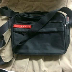 PRADA sporty Tessuto crossbody nylon satchel bag