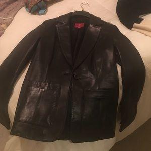 Black Cole Haan leather jacket