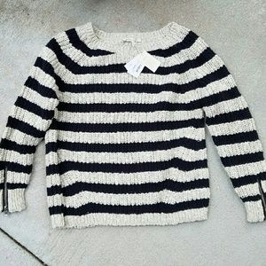 Maje Sweaters - NWT Maje Fisherman's Chunky Knit Sweater w Zippers