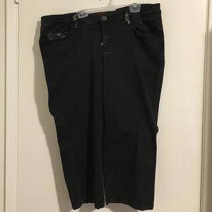 Tripp nyc Pants - Black Tripp Nyc capris corset hot topic