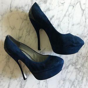 H by Halston suede heels