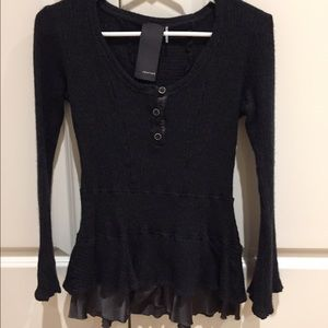 Heather Gardner Sweaters - Heather black sweater - small