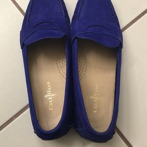 9ae5cbd3421 Cole Haan Shoes - Cole Haan Air Sadie Cobalt Blue Suede Drivers