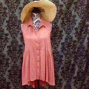 Haute Society Dresses & Skirts - Blush Collared Boho Button Down Dress