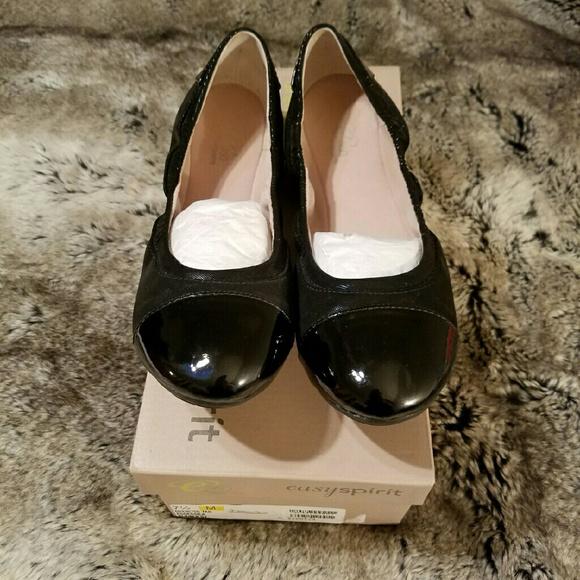 f22317248d Easy Spirit Shoes | E360 Black Ballet Flats | Poshmark