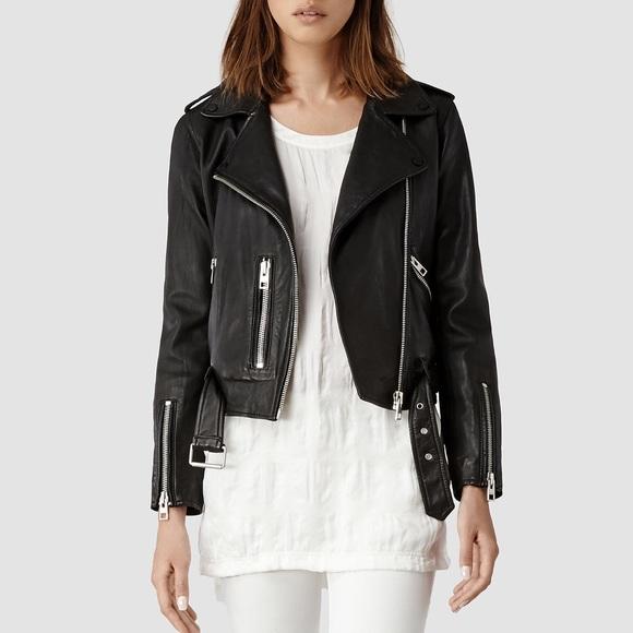 All saints black moto jacket