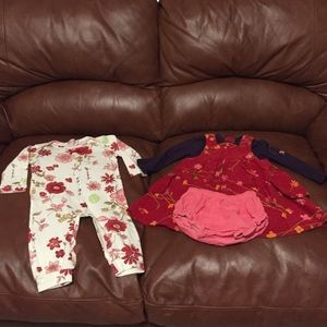 Baby Nay Other - BABY NAY onesie BABYMINI corduroy dress Sz 12 mo