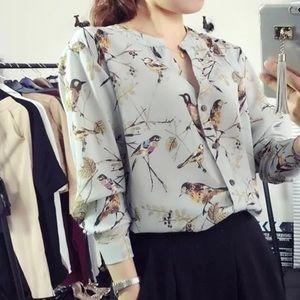 🚨SALE🚨🌙🐦silky little bird blouse 🐦🌙