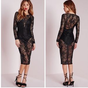 Missguided Dresses & Skirts - S A L E◾️NWT Missguided Sheer Lace Midi