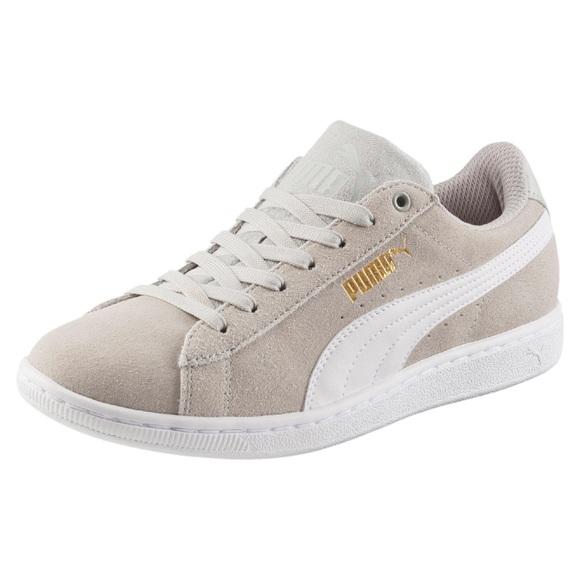 Nude grey Vikky Suede puma shoes ecbeeaca5