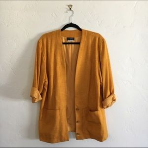 Vintage Tweed 3/4 Sleeve Blazer
