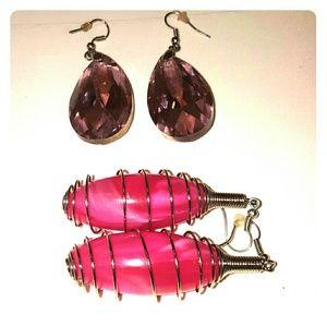 Pink Earrings (2 Pair)
