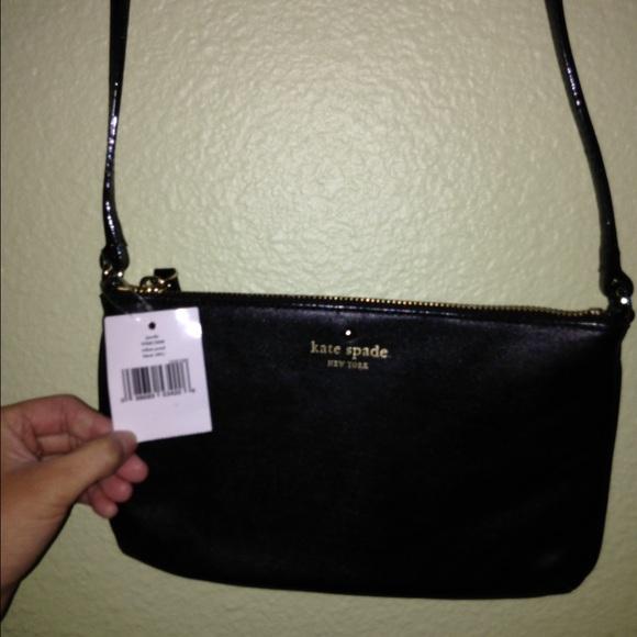 14612c3076584 kate spade Handbags - NWT Kate Spade Janelle black leather crossbody bag