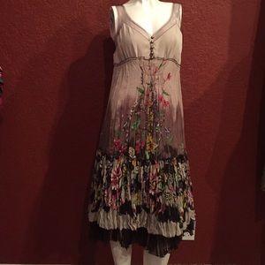 Bcbgmaxazria Midi Floral Dress Size M